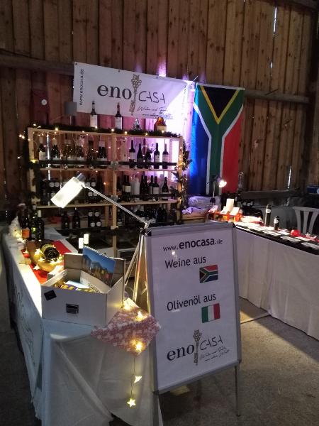 Unser Stand am Wintermarkt - Wochenende des Golfclubs Gut Rieden wurde dank der Olivenöle und Weine sehr gut angenommen.